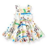 Hot Sale Summer Girls Dress Graffiti Pattern Design Kids Dresses Children S Clothing Brand Princess Dress