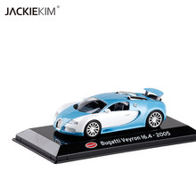 New 1:43 Bugatti Veyron 16.4 2005 luxury sport miniature auto racing diecast metal vehicle gift diecast model toy for kids(China)