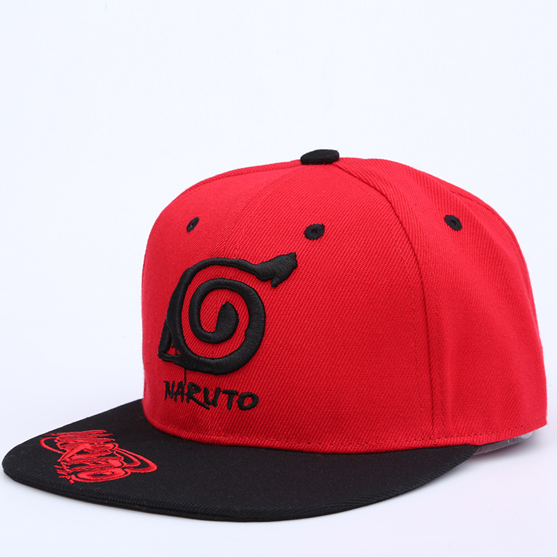 New Unisex Anime Lovers Naruto Outdoor Snapback Cap Embroidery Snapback Fashion Wood Leaves Village Hats For Men & Women Cap