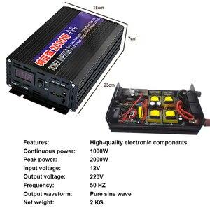 Image 2 - Автомобильный инвертор 4000 Вт, 2000 Вт, от 12 В до В переменного тока, немодулированный синусоидальный сигнал, автомобильный конвертер напряжения для дома, автомобильные аксессуары