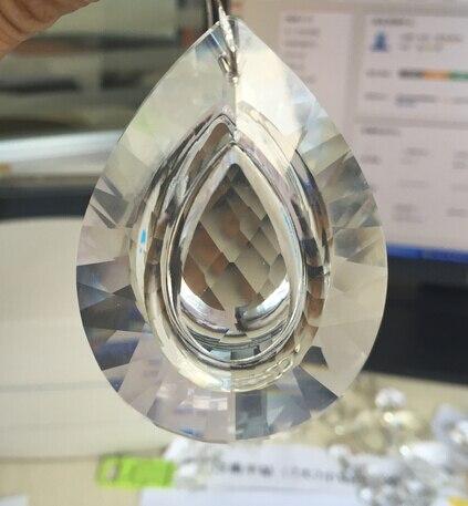 2pcs/lot 76mm clear crystal glass chandelier parts suncatcher prism pendant chandelier parts free shipping
