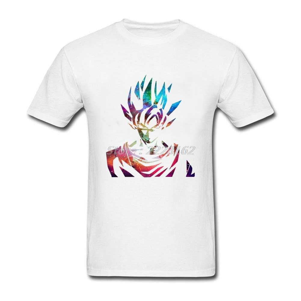 Оригинальный подарок Дизайн футболки Для мужчин взрослых Dragon Ball шею Гоку Galaxy Fit человек рубашка верхняя одежда