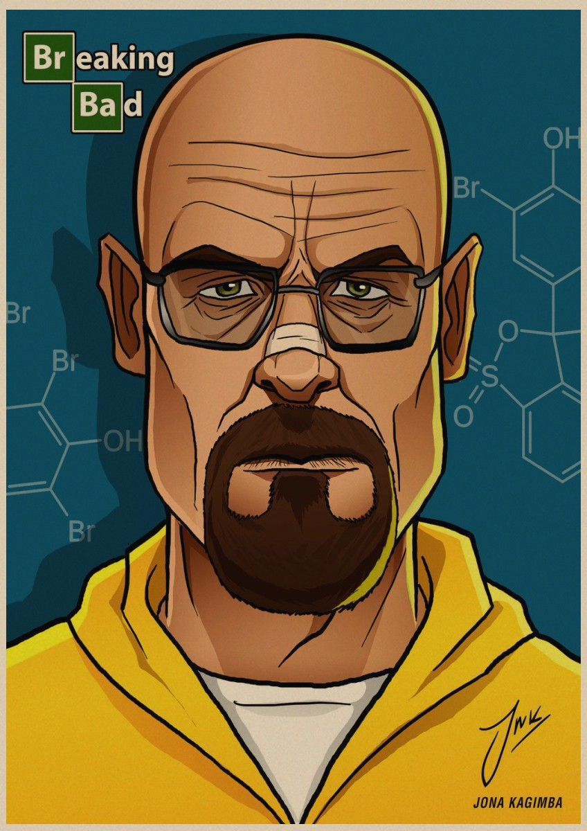 Image 2 - Breaking Bad movie retro Poster Vintage Kraft Paper Retro Posters Wall Sticker Bar Cafe Decoration Home Decor Gift A4-in Wall Stickers from Home & Garden