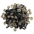 Barato al por mayor 100 Unids/50 Pares 6mm Ojos de la Seguridad De Plástico Negro Para El Oso de Peluche Juguetes De Peluche Broche Animal Muñecos títeres Craft