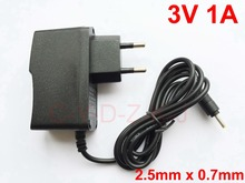 1PCS  3V 1A AC 100V 240V Converter Switching power adapter DC 1000mA Supply EU Plug DC 2.5mm x 0.7mm