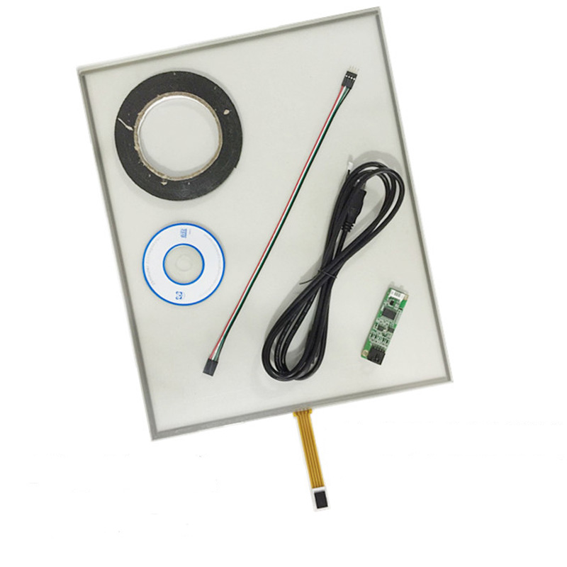Free Shipping!!! 1PC 19inch 4Wire 4:3 Glass Resistive Touch Screen 396MM*323MM Digitizer+Controller new 4 3 inch 4wire resistive touch panel digitizer screen for texet tn 501 gps free shipping