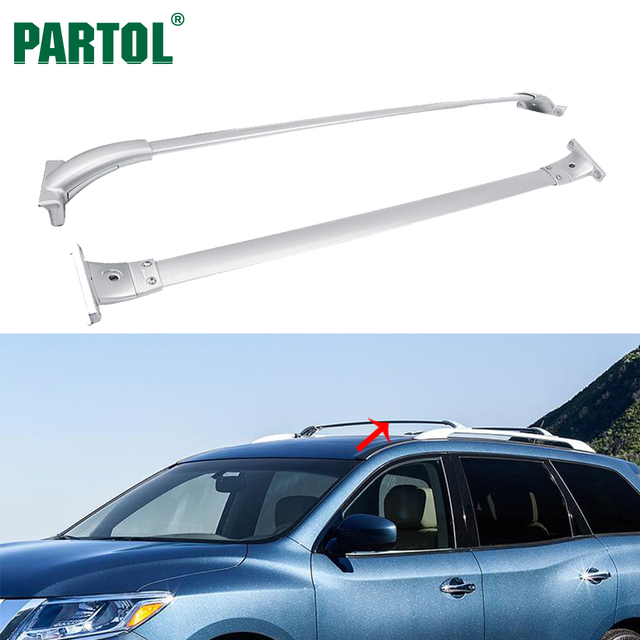 Partol Car Roof Racks Cross Bars Crossbars 68KG/150LBS Cargo Luggage Top  Carrier Snowboard For