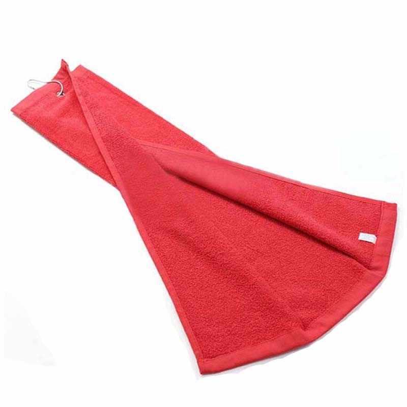 1PC 100% Cotone Asciugamano Da Golf Formato 40X60cm con Gancio In Metallo Panno Per Il Viso Accessori Per il Golf Su Misura Stampa di Marchio Accettare