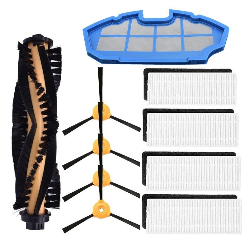 Escova lateral filtro Hepa Filtro Primário para Ecovacs Deebot N79S N79 Eufy RoboVac 11 11C para CONGA EXCELÊNCIA 990 Escova cobrir
