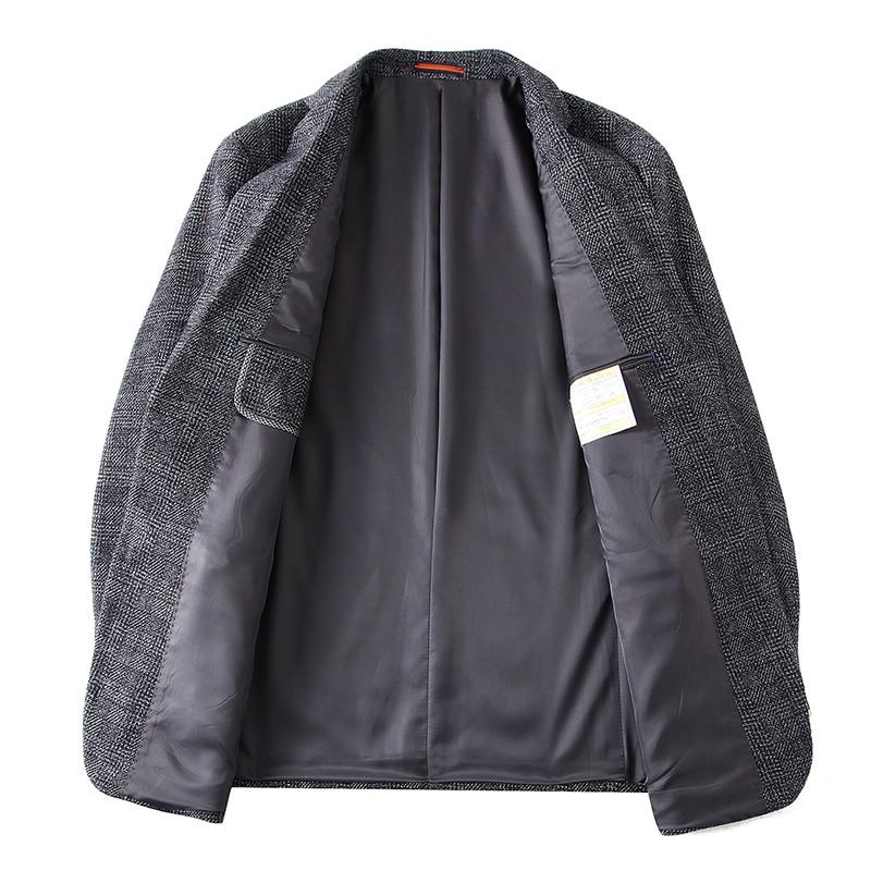 8XL 7XL 2018 جديد وصول العلامة التجارية الملابس الصوف سترة Autumu سترة الرجال السترة أزياء فضفاضة الذكور الدعاوى عارضة الحلل الرجال-في السترات من ملابس الرجال على  مجموعة 3