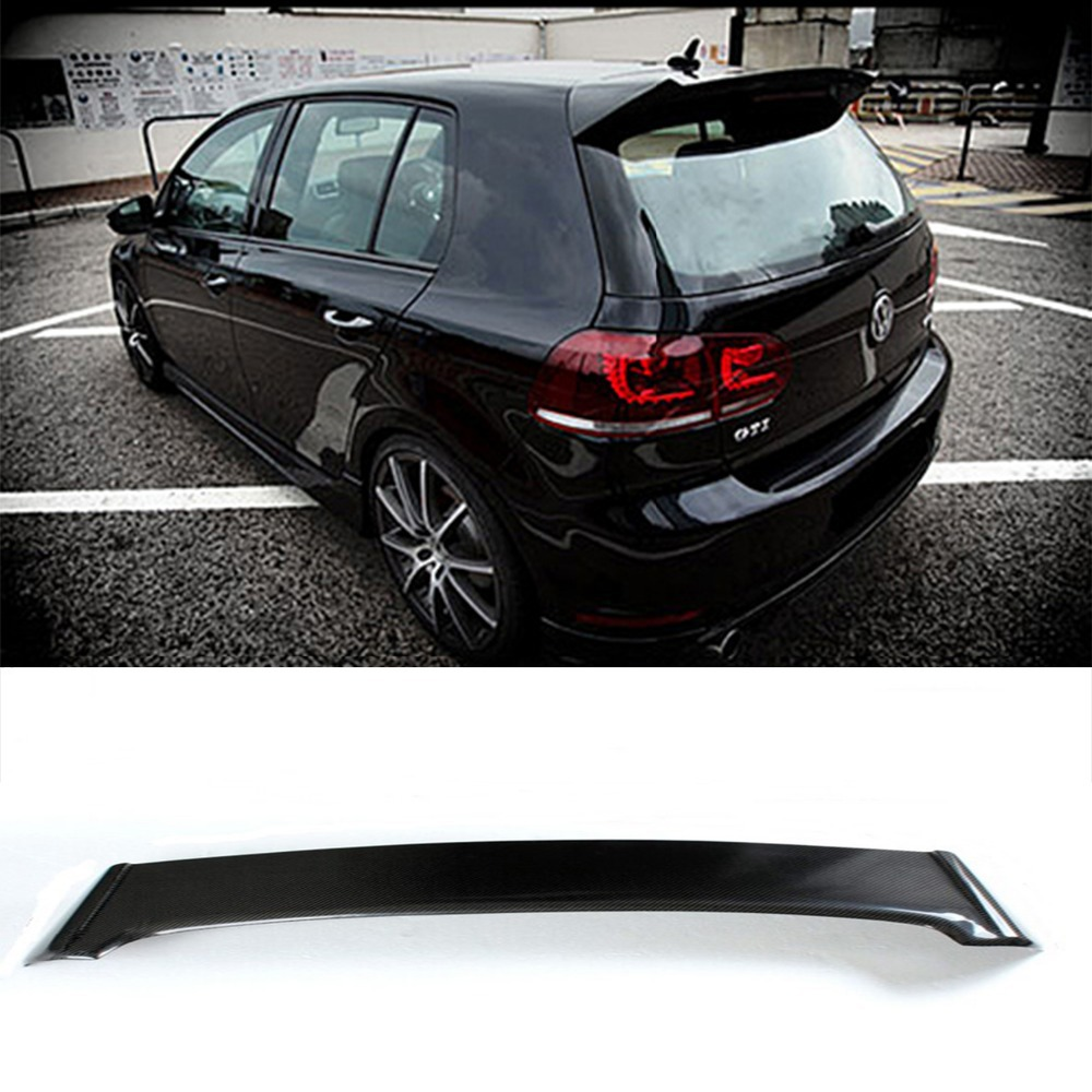 Golf 6 GTI O Styling Carbon Fiber Rear Roof Lip Spoiler Wing for Volkswagen 2010-2014 car styling carbon fiber auto rear wing spoiler lip for vw scirocco 2010 2012