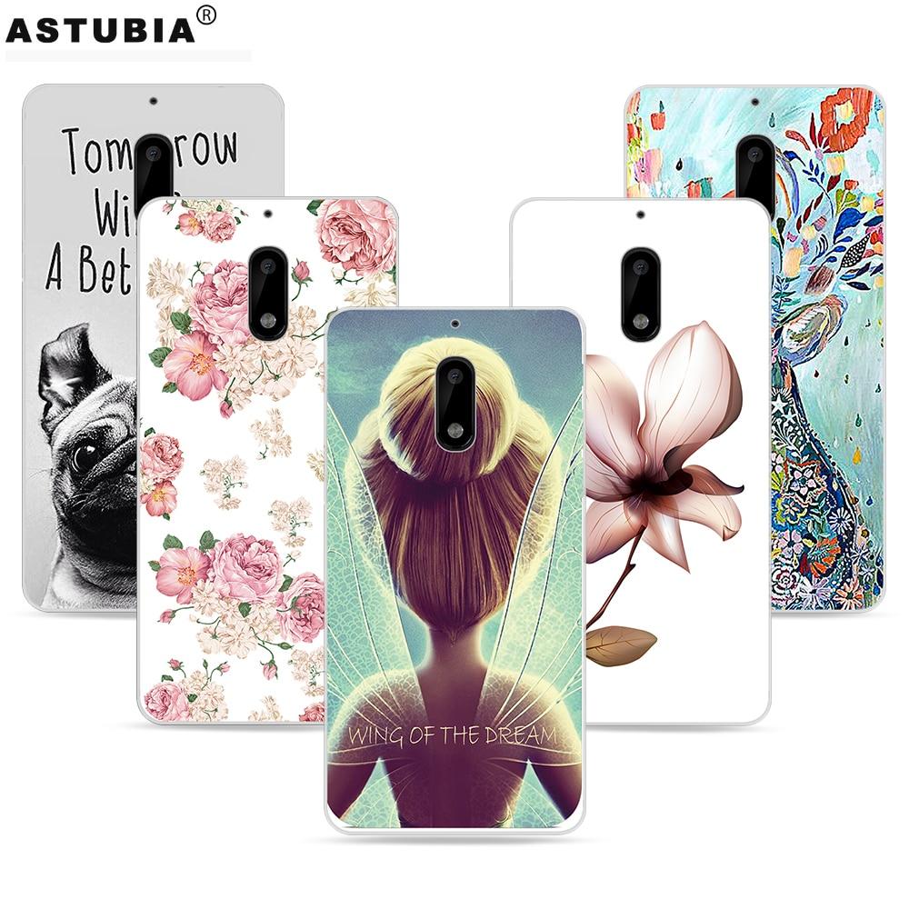 For Nokia 8 Case X6 Cover 7 Plus 5 Tempered Glass Warna Full Astubia Kasus Telepon Untuk 6 Penutup Silicone Fashion Sayap Gadis
