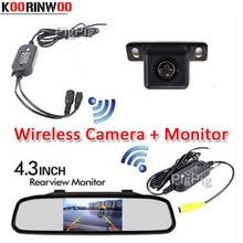 Buy online Koorinwoo Auto Wireless Parking 4.3 Digital TFT LCD Car Mirror Monitor HD CCD Car Rear view Camera Back up System car-styling