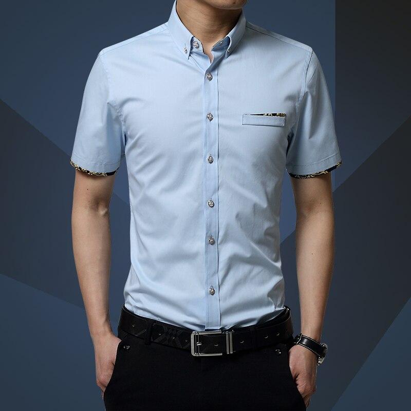 verano masculino corto manga de la camisa delgada algodn comercial camisa delgada ropa