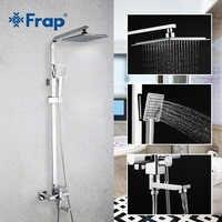 Frap 1 Set Badezimmer-niederschlag Dusche Wasserhahn Set Einzigen Griff Mischbatterie Mit Hand Sprayer Wand Montiert Bad Dusche Sets