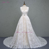 Liyuke Robe De Mariage New Detachable A Line Wedding Dress 2017 Sweetheart Neck Cheap Lace 2