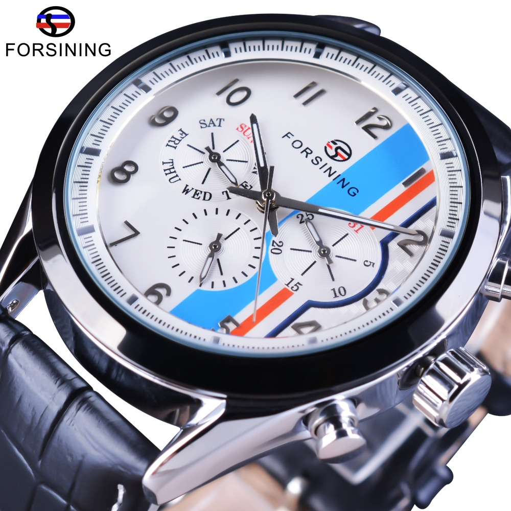 Forsining Fashion Leisure Design Genuine Leather Strap Calendar Display Blue British Style Men Automatic Watch Top Brand Luxury Forsining Fashion Leisure Design Genuine Leather Strap Calendar Display Blue British Style Men Automatic Watch Top Brand Luxury
