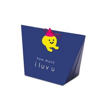 10 unids/lote de azul real, Caja de galletas I Lu vu, caja de dulces de San Valentín, caja de regalo de recuerdo de boda, caja pequeña de regalo de dibujos animados