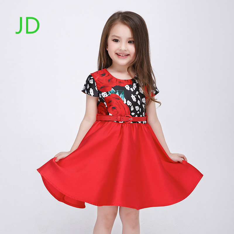 Sell Like Hot Cakes The New Christmas Dress Girls Korean Princess Dress Girls Dance Dress Print 1 lot 3 pieces  new european top grade embroidery cushion sell like hot cakes four seasons pleuche gm direct manufacturers in the cushion