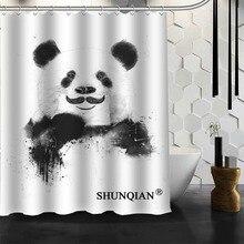 Best Nice Custom PANDA Shower Curtain Bath Curtain Waterproof Fabric  Bathroom Curtain MORE SIZE A6.