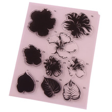 CCINEE 1PCS Transparent Clear Stamp Flower Style DIY Silicone Seals Scrapbooking/Card Making/Photo Album Decoration Supplies