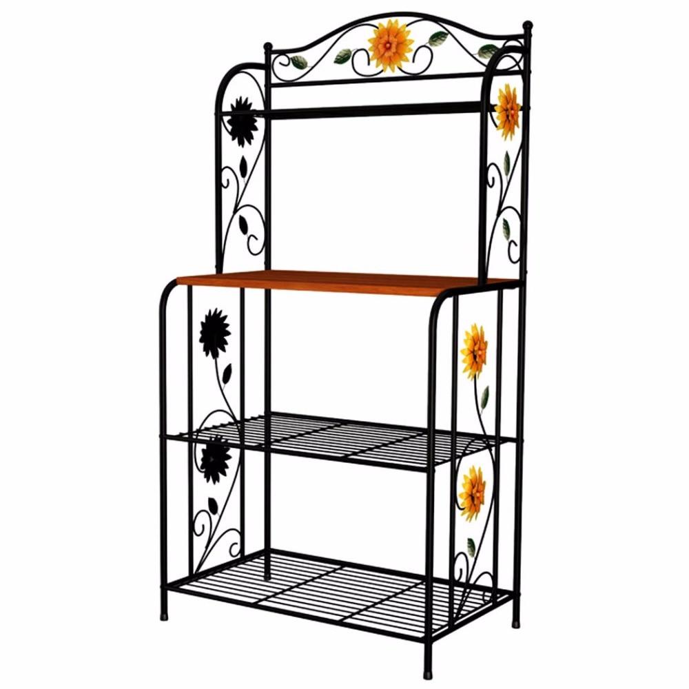 hlc metal bakers rack 49 inch 4 tiers storage rack in storage holders racks from home garden. Black Bedroom Furniture Sets. Home Design Ideas