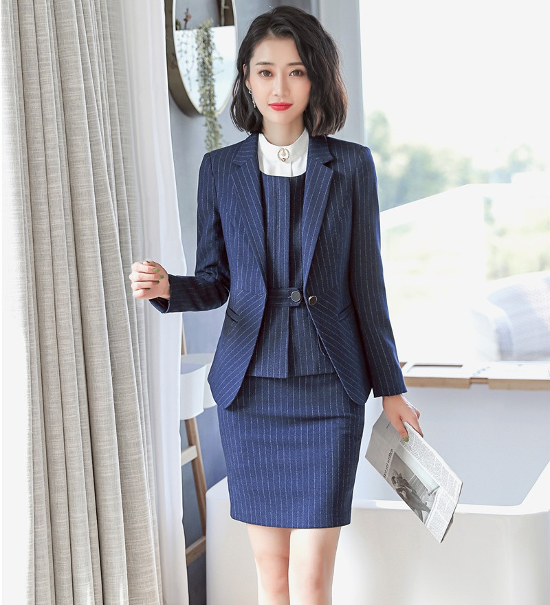 f3584eb28a38 Ufficio Nuovo Gilet Set 2019 Pezzo Uniformi Eleganti Gonna Giacche Stili Giacca  Donne Vestiti Per Le E 3 Affari Donna Di ppTZqRr