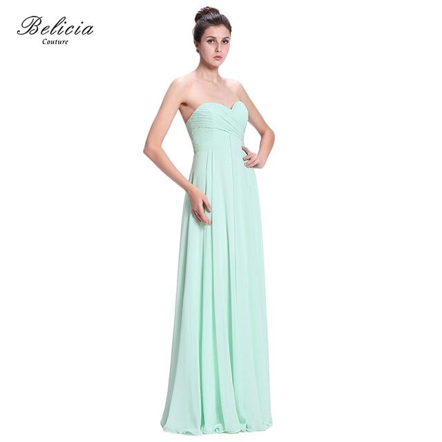 Belicia Couture Frauen Schatz langes Chiffon Hochzeit Brautjungfer ...