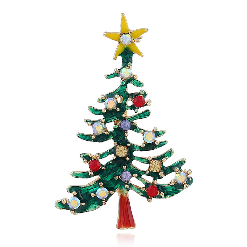 CINDY XIANG Trendy Christmas Tree Brooches For Women Creative Hollow Casual Gift Pins Coat Sweater Accessories Jewelry Sell Well