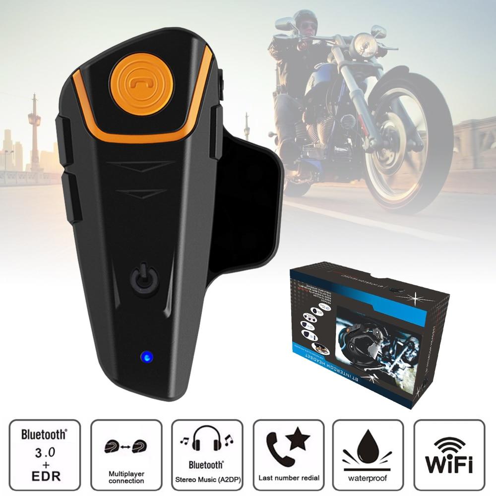 1 Set BT S2 Motorcycle Intercom Helmet Headsets Wireless Bluetooth Interphone Headset FM Radio Earphone EU