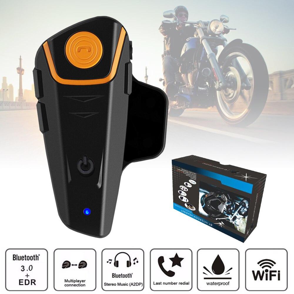 2015 Updated Version BT-S2 Bluetooth Motorcycle Helmet Intercom Interphone Headset with FM Radio+Extra Earphone EU Plug