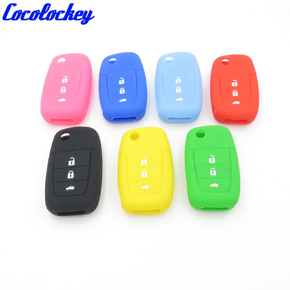 Cocolockey 4 Button Car Styling Silicone Car Key Cover For Chevrolet Pontiac Holden Commodore Flip Remote Keyless Enter Key