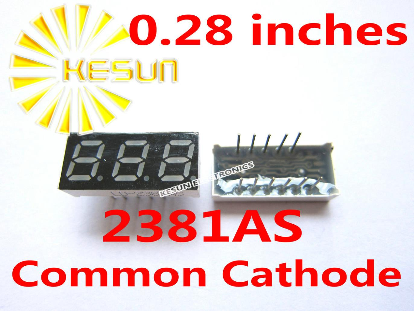 10PCS X 0.28 Inches Red Common Cathode/Anode 3 Digital Tube 2381AS 2381BS LED Display Module