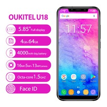 5.85″ Full Display Mobile Phone Face ID Fingerprint Smartphone
