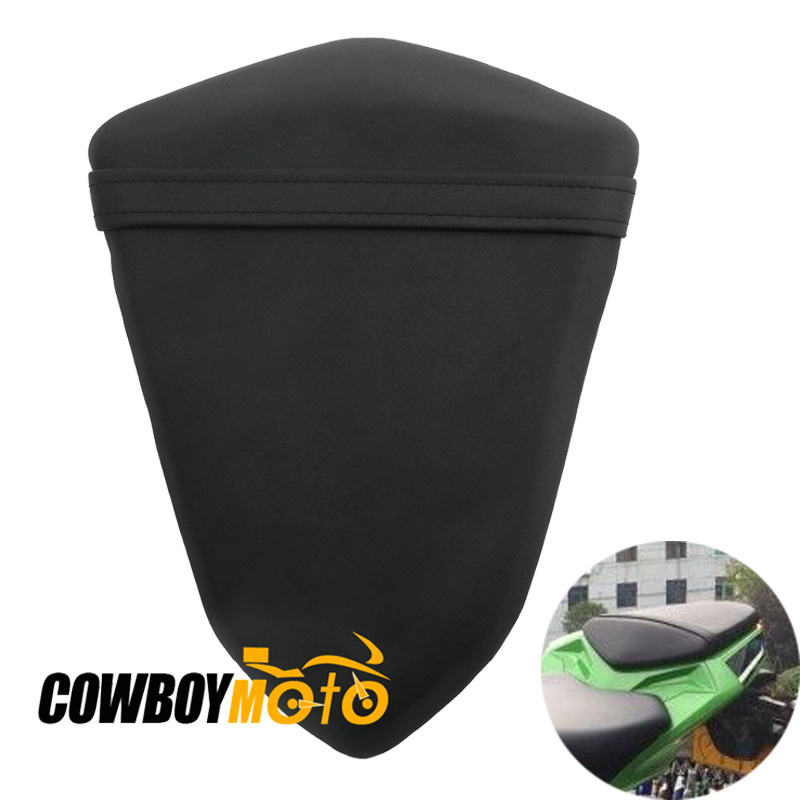 Motorcycle Rear Seat Cover Cushion Rear Pillion Passenger Black Seat Pad For Kawasaki Ninja 300 EX300 2013 2014 13 14