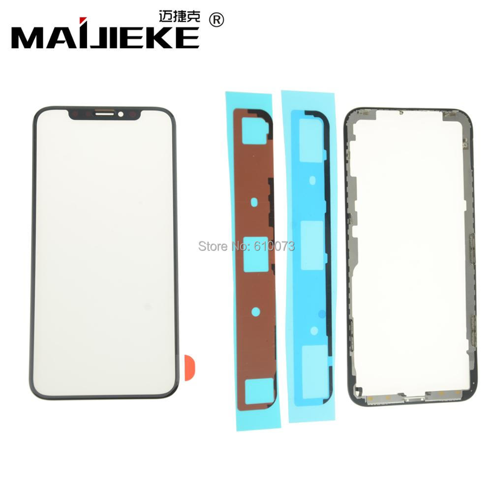 5XMAIJIEKE Wholesale Screen Front Glass with OCA Middle Frame with Adhesive for iPhone X Screen Touch