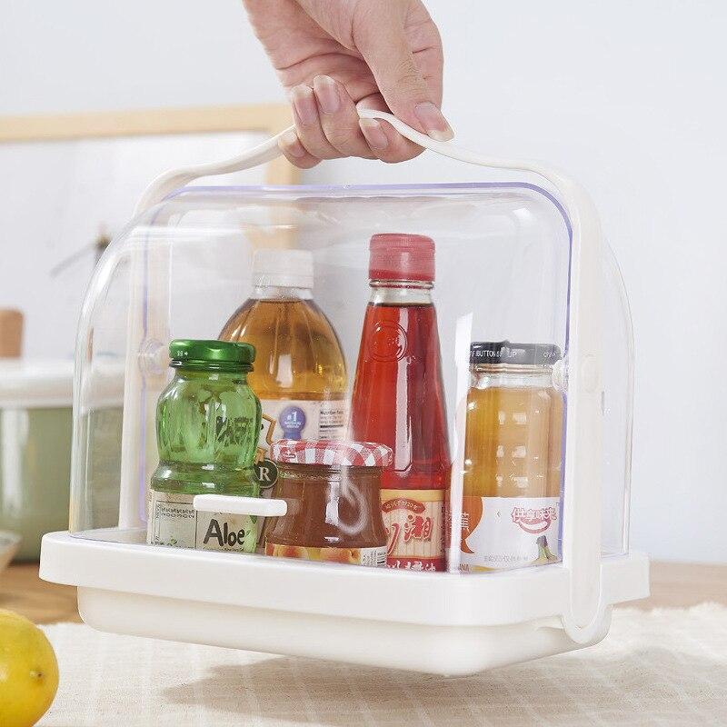 Boîte en plastique Style japonais recevoir des conteneurs cuisine étanche à la poussière aromatisant bouteilles boîtes de rangement avec couvercle brillant épice Rectangle