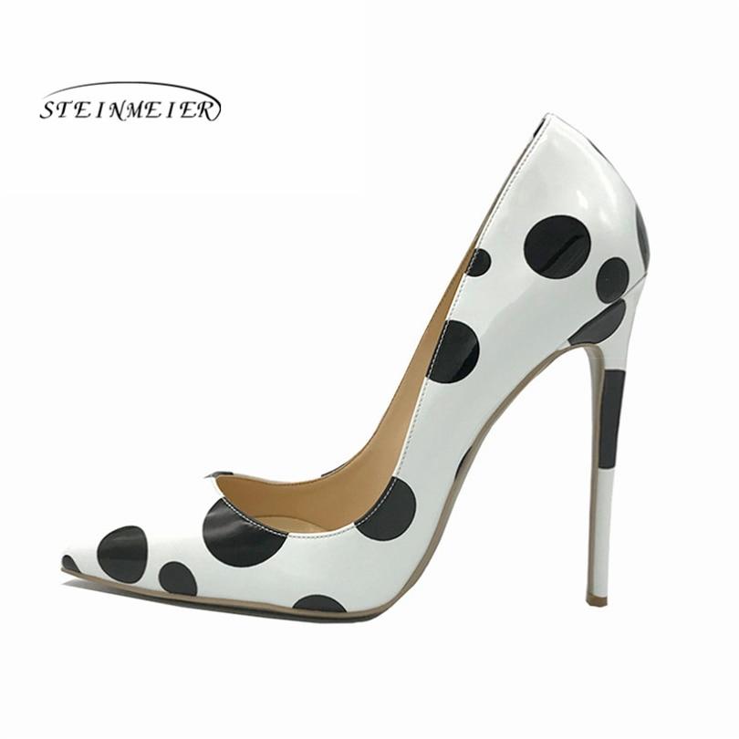Bout Blanc Pointu Chaussures Discothèque Noir Cm Steinmeier 8cm Luxe Pompes 10cm Haute Designers De Sexy 12 Hauts Femmes 12cm Talons fIwFpqY