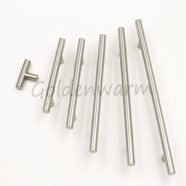 brushed stainless steel cabinet pulls diameter 12 inch 12 mm goldenwarm kitchen