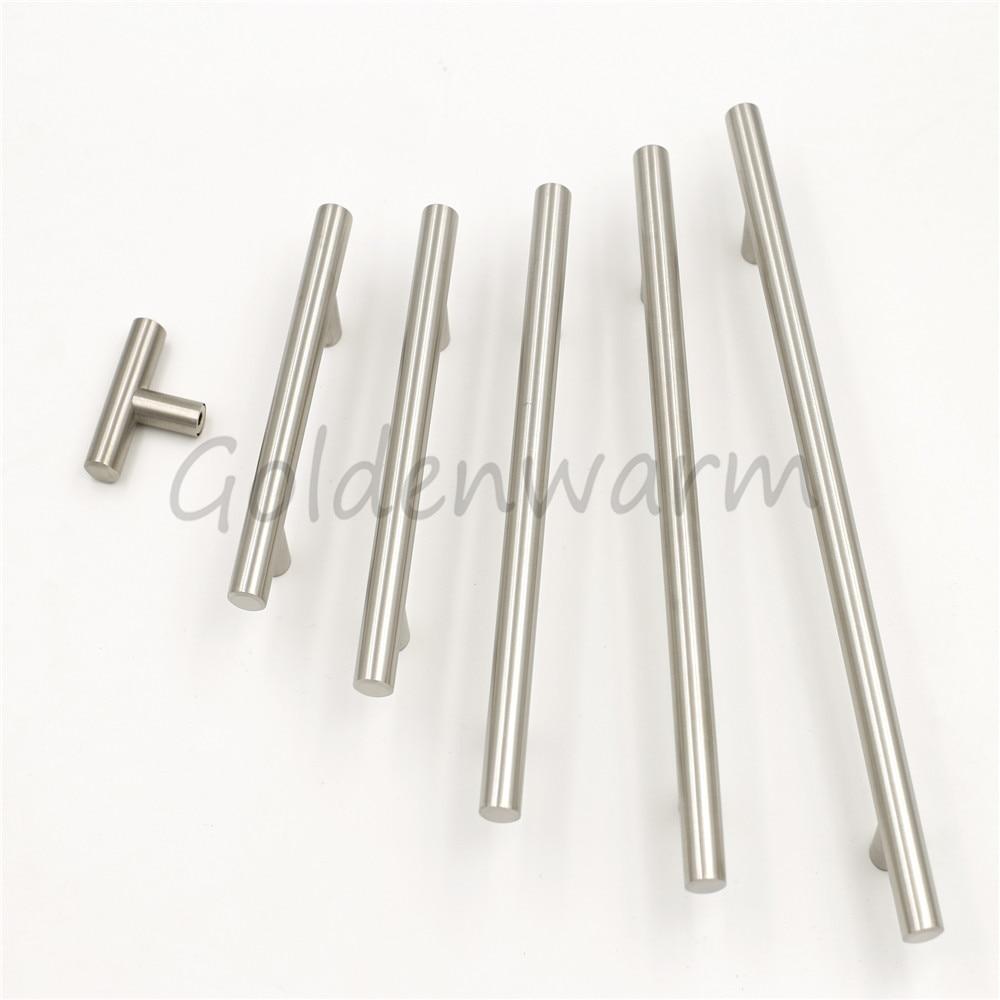 Brushed Stainless Steel Cabinet Pulls Diameter 1/2 Inch (12 Mm) Goldenwarm  Kitchen