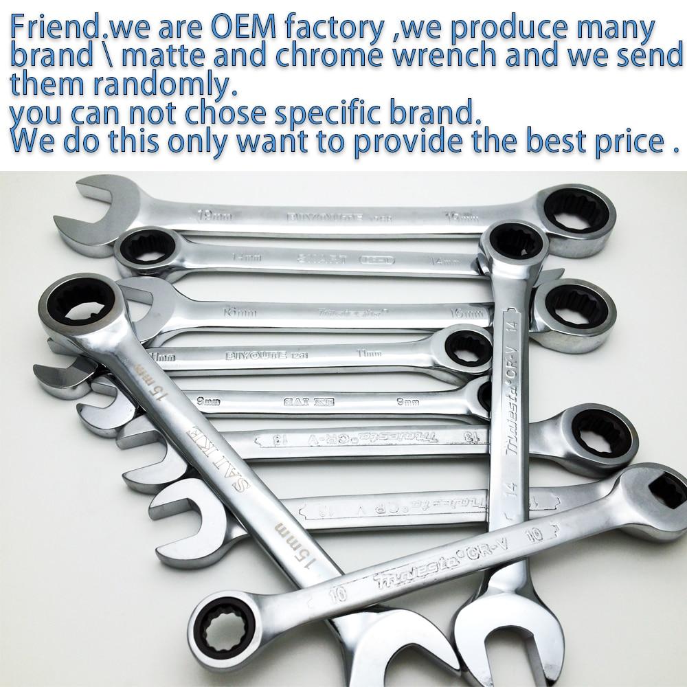 Ratchetkombination Metrisk skiftnyckeluppsättning Fin tandväxelring - Handverktyg - Foto 6