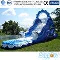 Blue Sea Wave Slide Insufláveis para As Crianças Jogos de Água Para O Verão