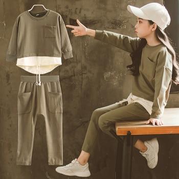 Toddler Girls 2018 Autumn Winter Clothing Sets Childrens Sweatshirts + Pants 2 Pcs Suit Kids Fashion Clothes Conjunto Infantil