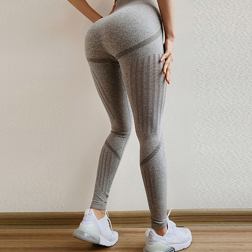 Sexy High Waist Bandage Women Leggings Black Patchwork Workout Elasticity Female Leggings Run Fashion Pants Casual Clothes 2019 in Leggings from Women 39 s Clothing