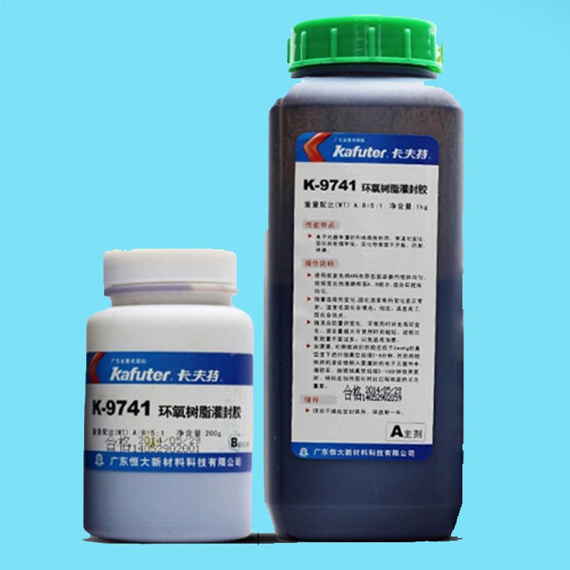 Высокого качества K-9741 низкая усадка 1:5 черная эпоксидная резина заливка схема крышка изоляции одна пара 1,2 кг