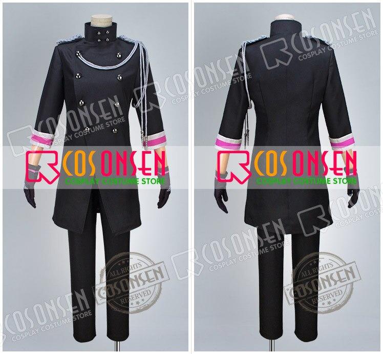 Uta no Prince sama Shining All Star CD2 Ai Mikaze Ranmaru Kurosaki Reiji Kotobuki Camus Senior Black Uniform Cosplay Costume