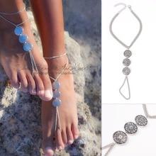 foot jewelry bracelet coin anklet boho barefoot sandal ankle bracelet cheville enkelbandje bohemian anklets for women