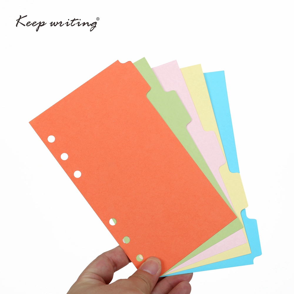 Binder Index Dividers B5 A5 A6 Inner Page Organizer Notebook Index Paper Separator Divider Pages 5 Sheets Matching Filofax