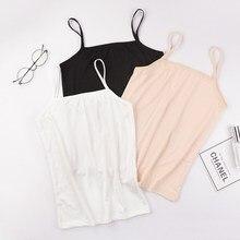 Летние сексуальные Лифчики, женский укороченный топ, рубашка без рукавов, сексуальный тонкий женский бюстгальтер без косточек, мягкие топы, облегающий жилет, камзол