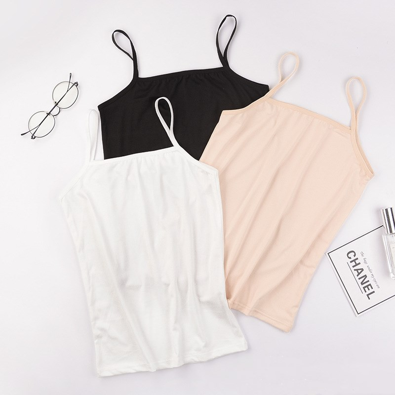 Summer Sexy Camisoles Women Crop Top Sleeveless Shirt Sexy Slim Lady Bralette Padded Tops Strap Skinny Vest Camisole